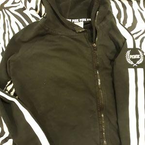 Pink vs side zip hoodie